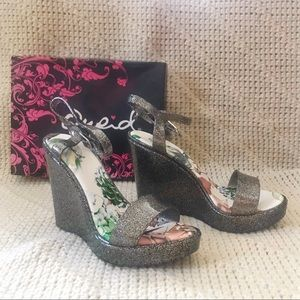 Qupid Glitter Wedges
